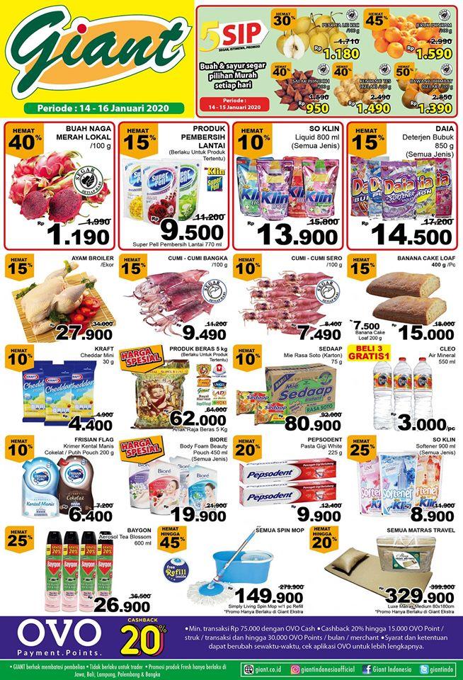 Katalog Promo Belanja Hemat Giant Supermarket Periode 14-16 Januari 2020