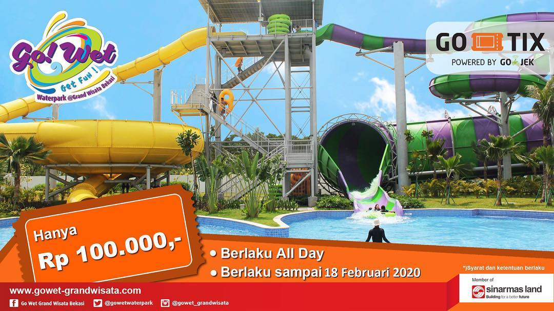 Go Wet Waterpark Promo Harga Spesial Tiket Masuk Cuma Rp. 100.000