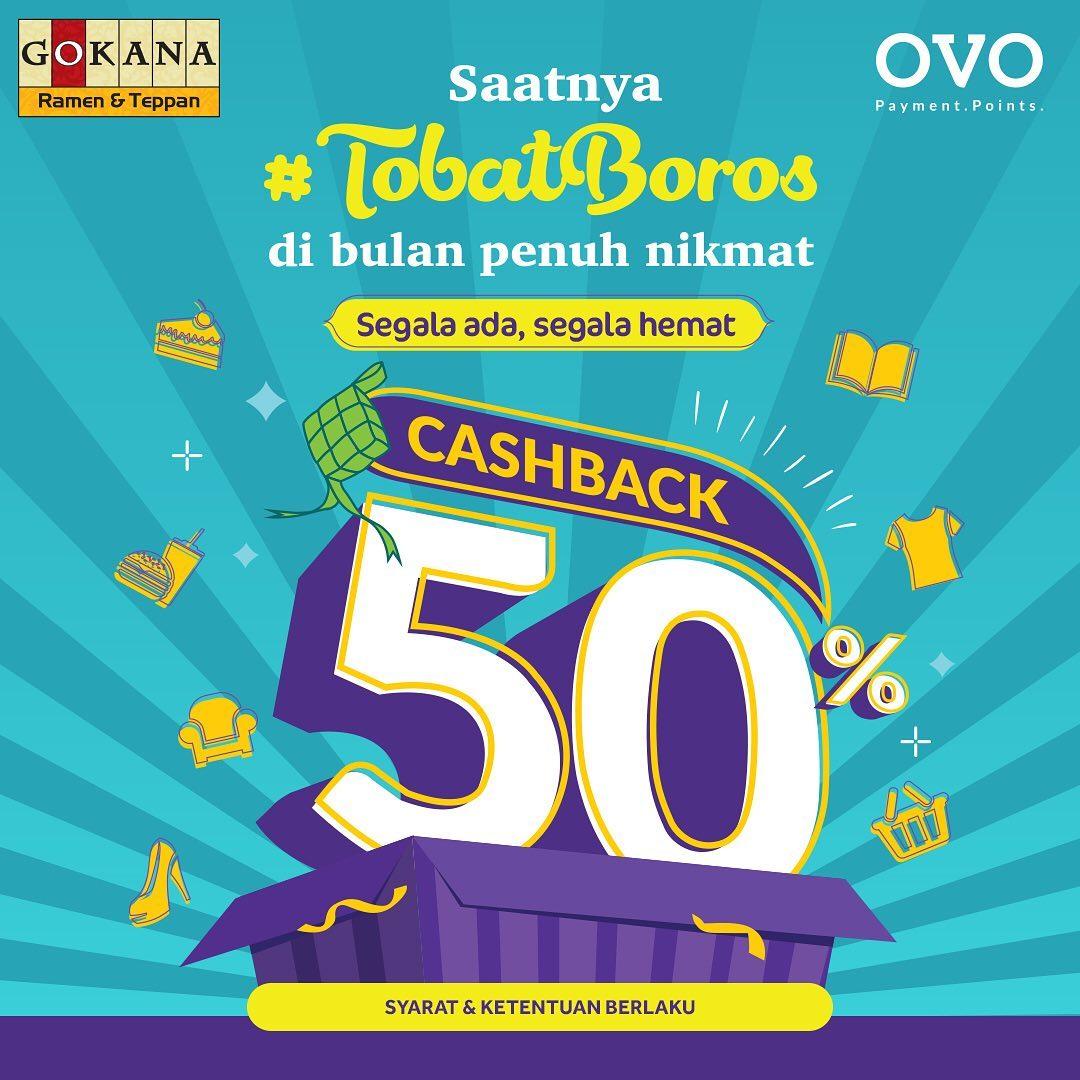 Gokana Ramen & Teppan Promo Cashback 50% Dengan Ovo