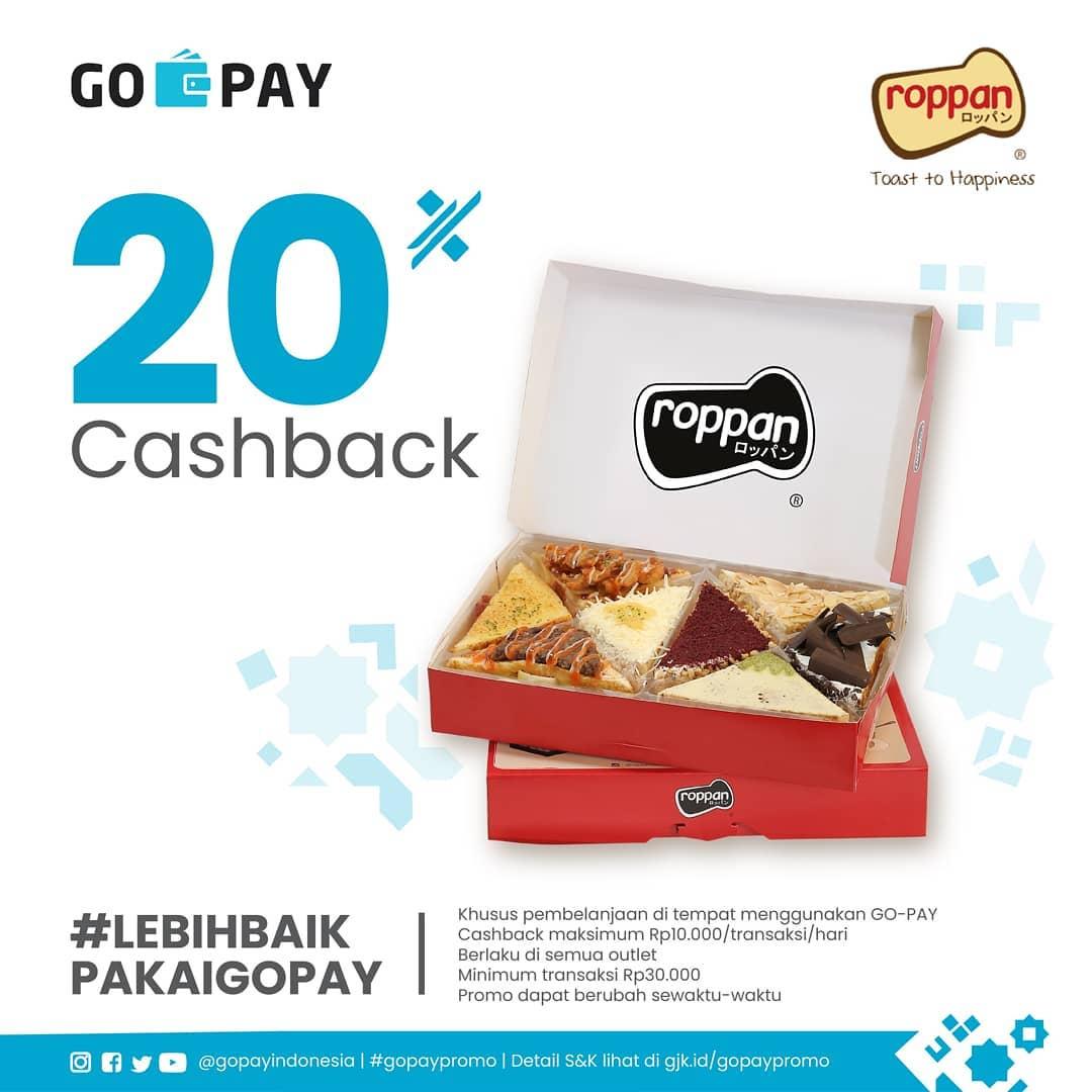 Roppan Promo Spesial Gopay Hemat, Cashback 20%