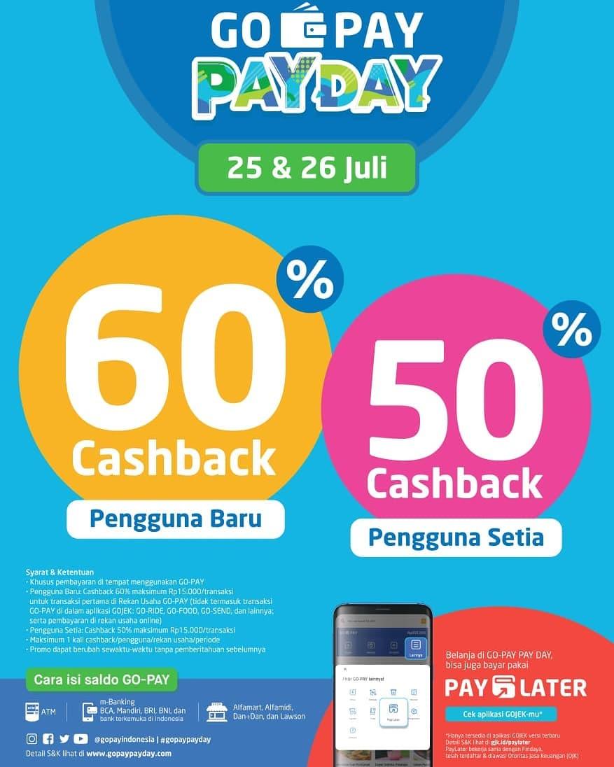 Gopay Payday Edisi Juli Is Back, Cashback Hingga 60%!