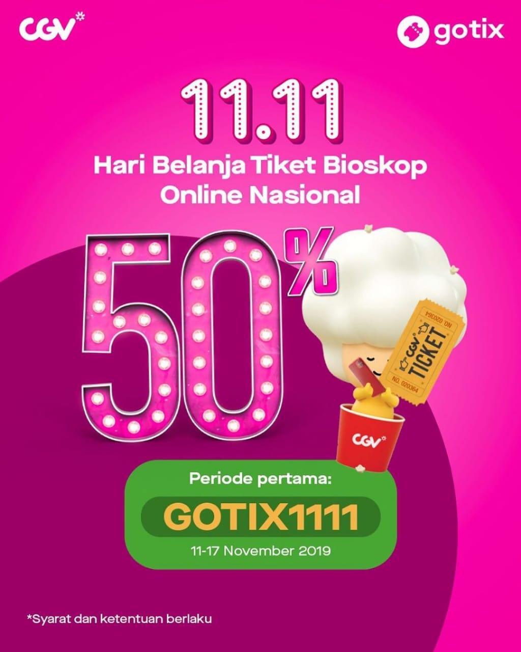 Gotix Promo 11.11 Nomat Seminggu Penuh, Diskon 50%!