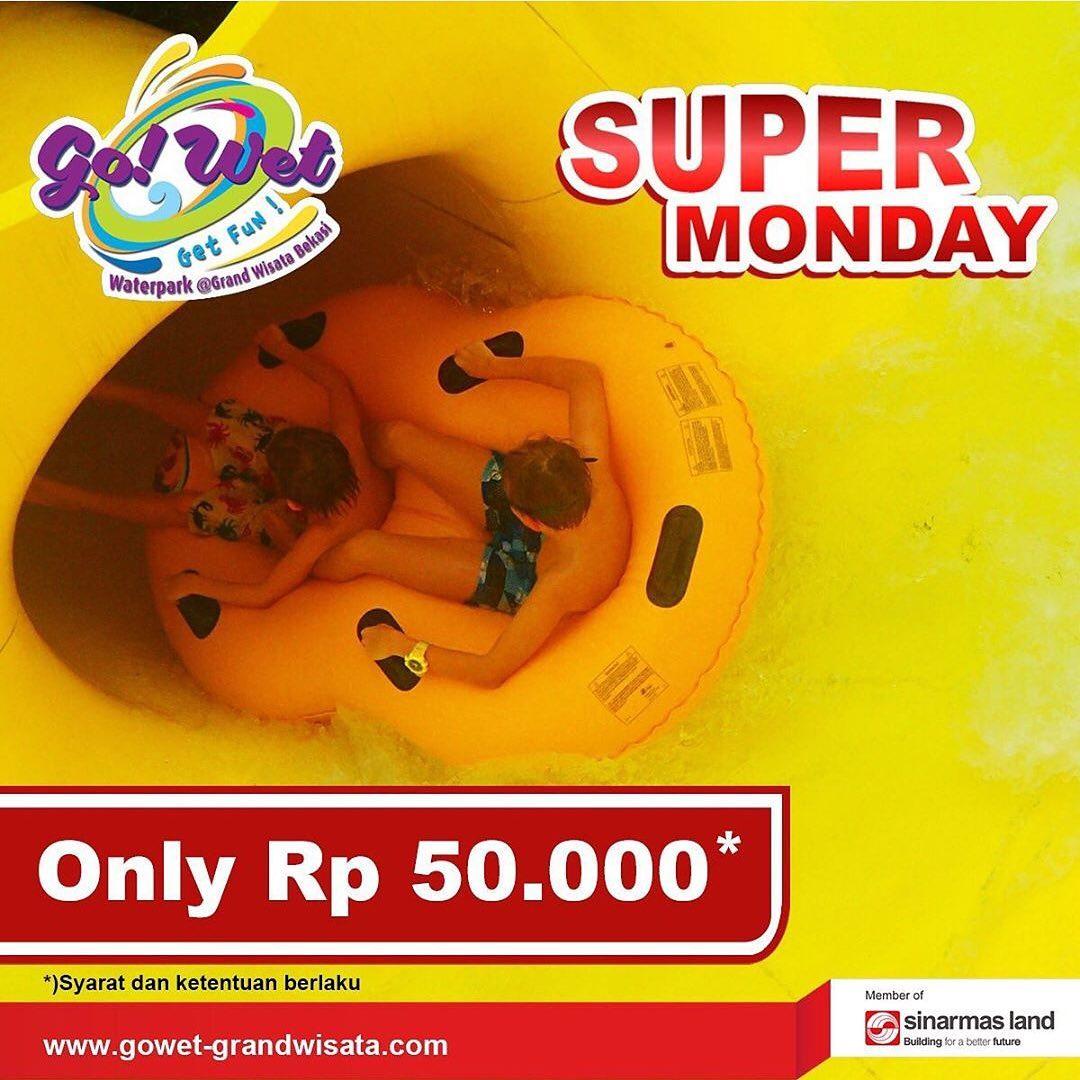 Go Wet Waterpark Promo Super Monday, Berenang Hemat Hanya Rp. 50.000!