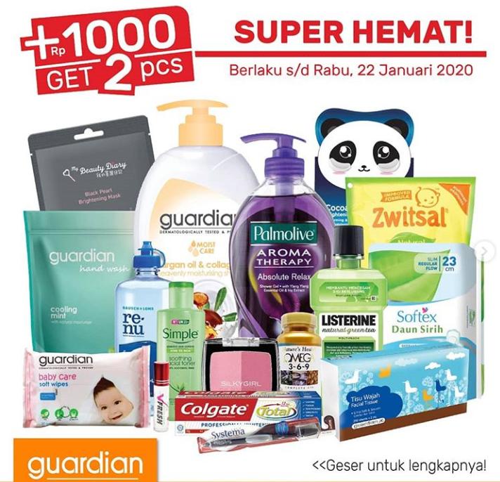 Guardian Biggest Sale, Harga Mulai Dari Rp 14.500 Hanya Di Shopee!!!
