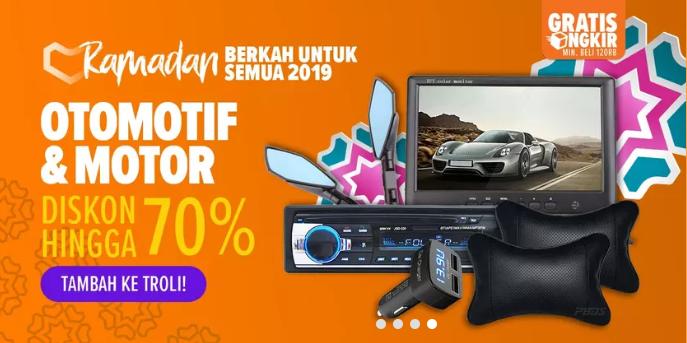Lazada Promo Otomotif Spesial Ramadhan, Diskon Hingga 70%