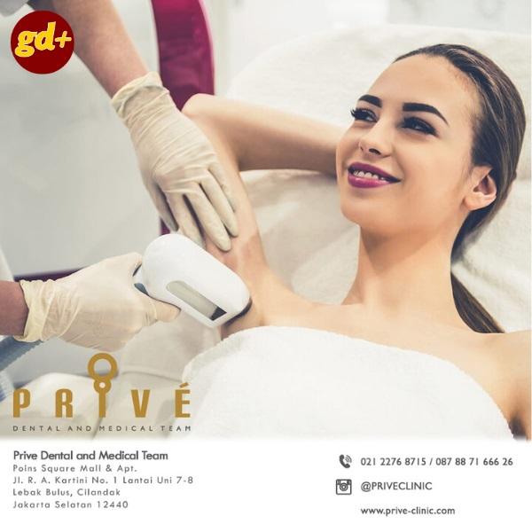 Promo Prive Dental & Medical Team Spesial GD+, IPL Armpits Treatment only Rp 199.000