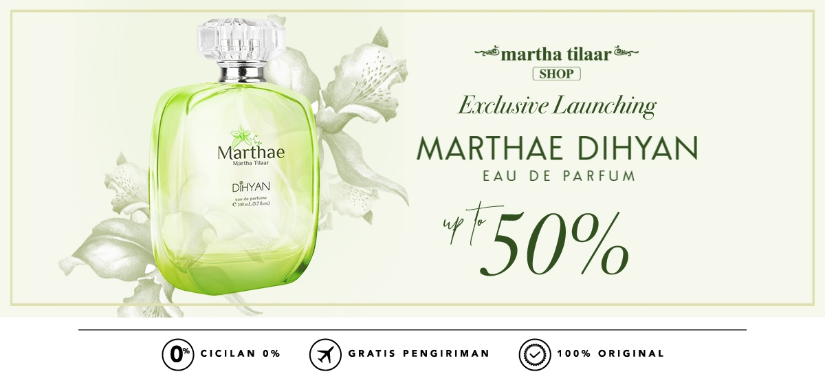 Blibli Promo Parfum Marthae Dihyan By Martha Tilaar, Diskon Hingga 50%