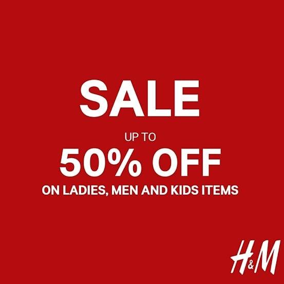 H&M Fashion End Of Season Sale, Diskon 50% Off