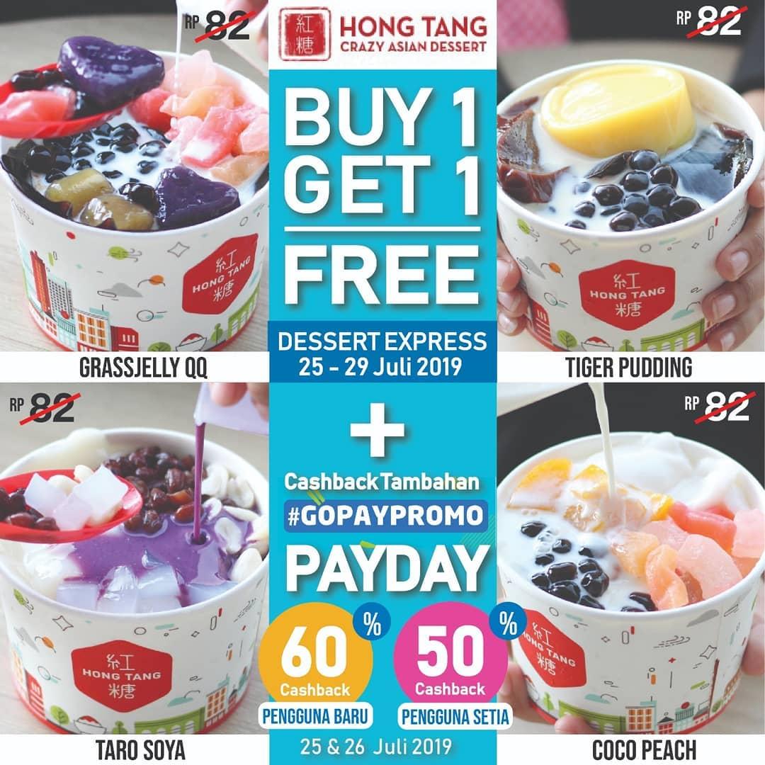 Hong Tang Promo Spesial Gopay Payday, Buy 1 Get 1 & Ekstra Cashback