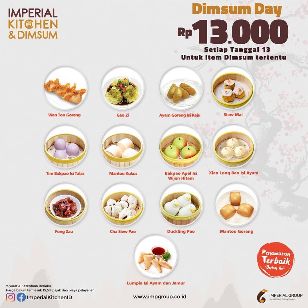 Imperial Kitchen & Dimsum Promo Spesial Tanggal 13, Semua Serba Rp. 13 Ribuan!