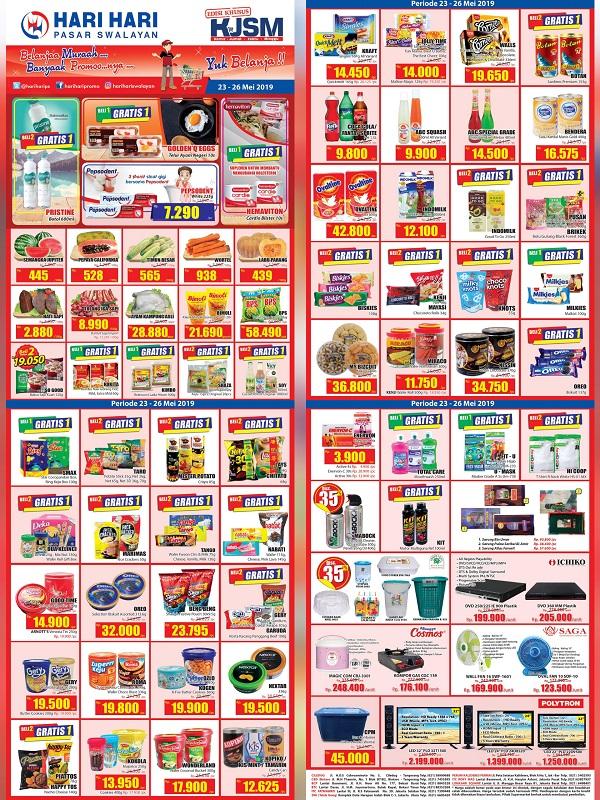Katalog Promo Hari Hari Pasar Swalayan Periode 23-26 Mei 2019