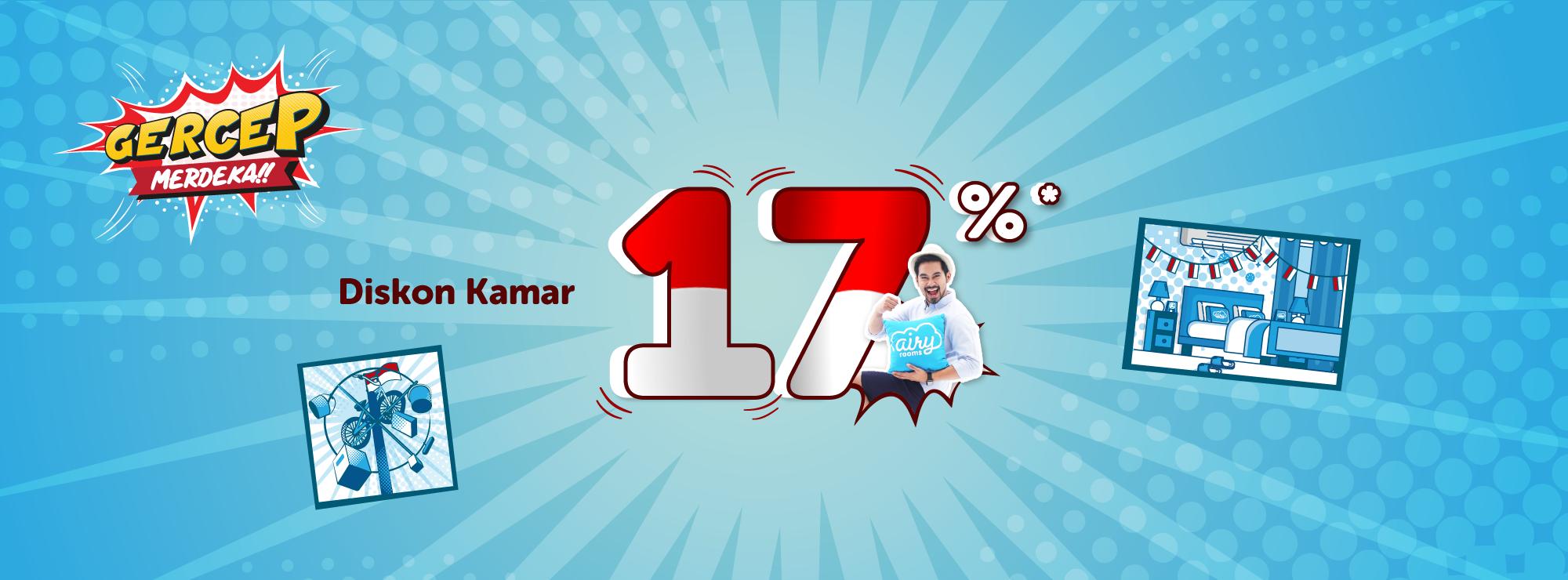 Airy Promo Kamar Hotel 17% Spesial Kemerdekaan