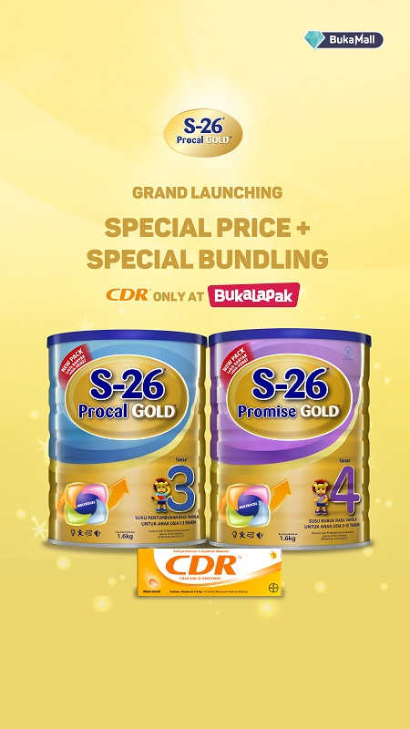 S-26 Procal & Promise Gold 1,6kg FREE CDR 10 Di BukaMall