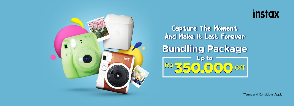 Tokopedia Promo Instax Bundling Package, Diskon Hingga Rp 350.000