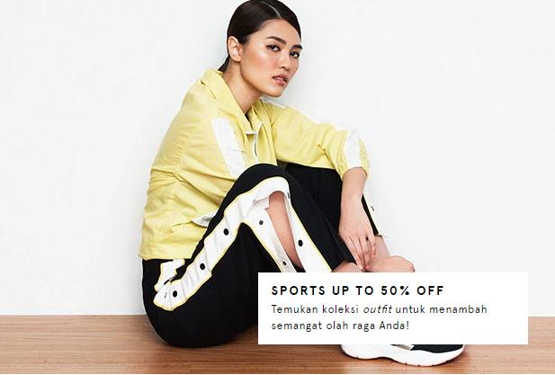 Zalora Baju dan Sepatu Olahraga DISKON Hingga 50%