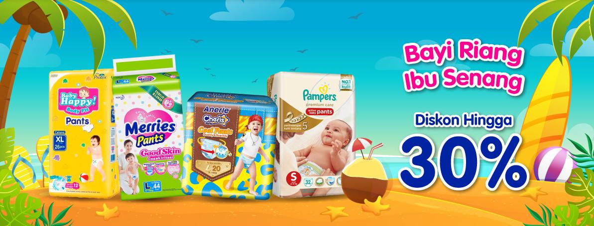 Blibli Promo Baby Diapers Fair, Diskon Hingga 30%