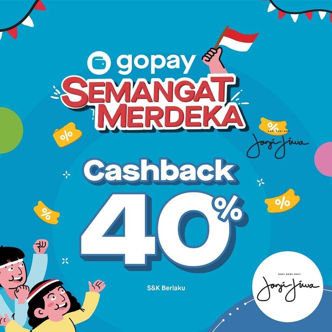 Kopi Janji Jiwa Promo Spesial Cashback 40% Dengan Gopay, Ini Dia Caranya!