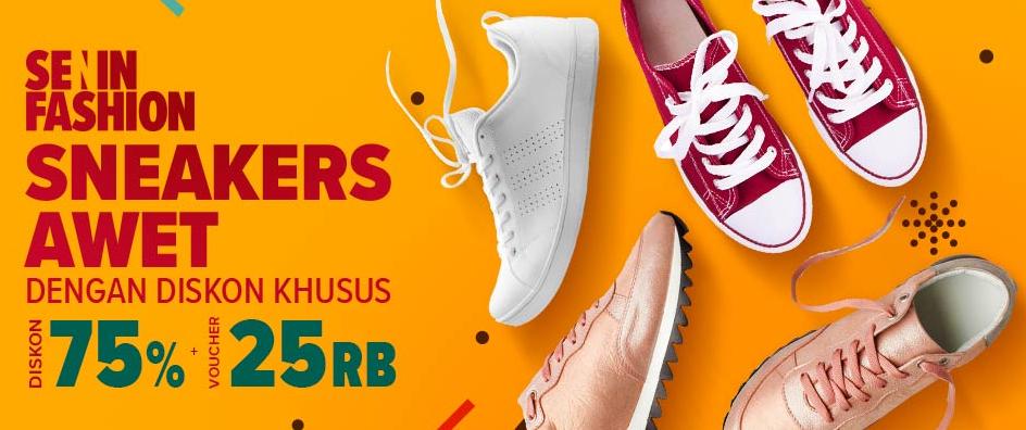Lazada Promo Sensesyen Sneakers DISKON 75% + Voucher 25rb