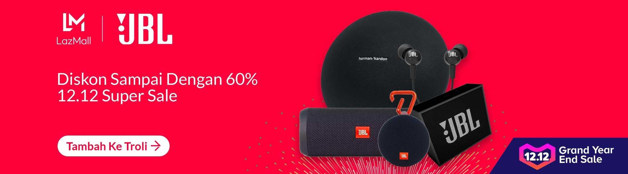 Lazada Promo JBL Store, Diskon Hingga 60%