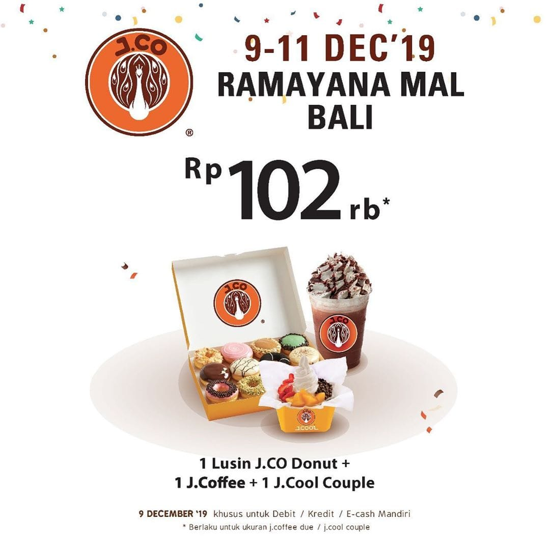 JCo Donuts Promo Opening Store Di Bali, Beli Paket Hemat Cuma Rp. 102.000!
