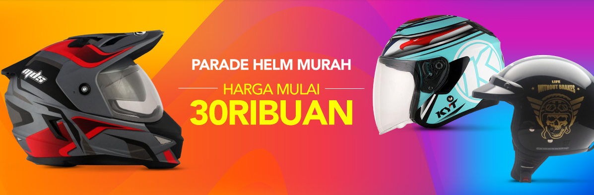 Blibli Parade Helm Murah, Harga Mulai Rp. 30 Ribuan