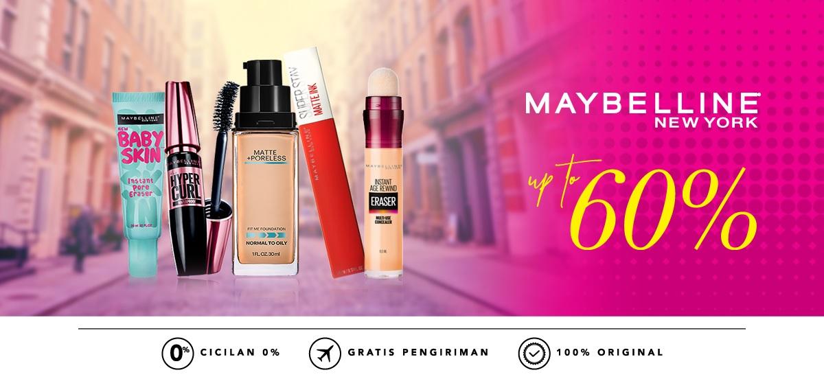 Blibli Promo Make Up Maybelline, Diskon Hingga 60%!!!