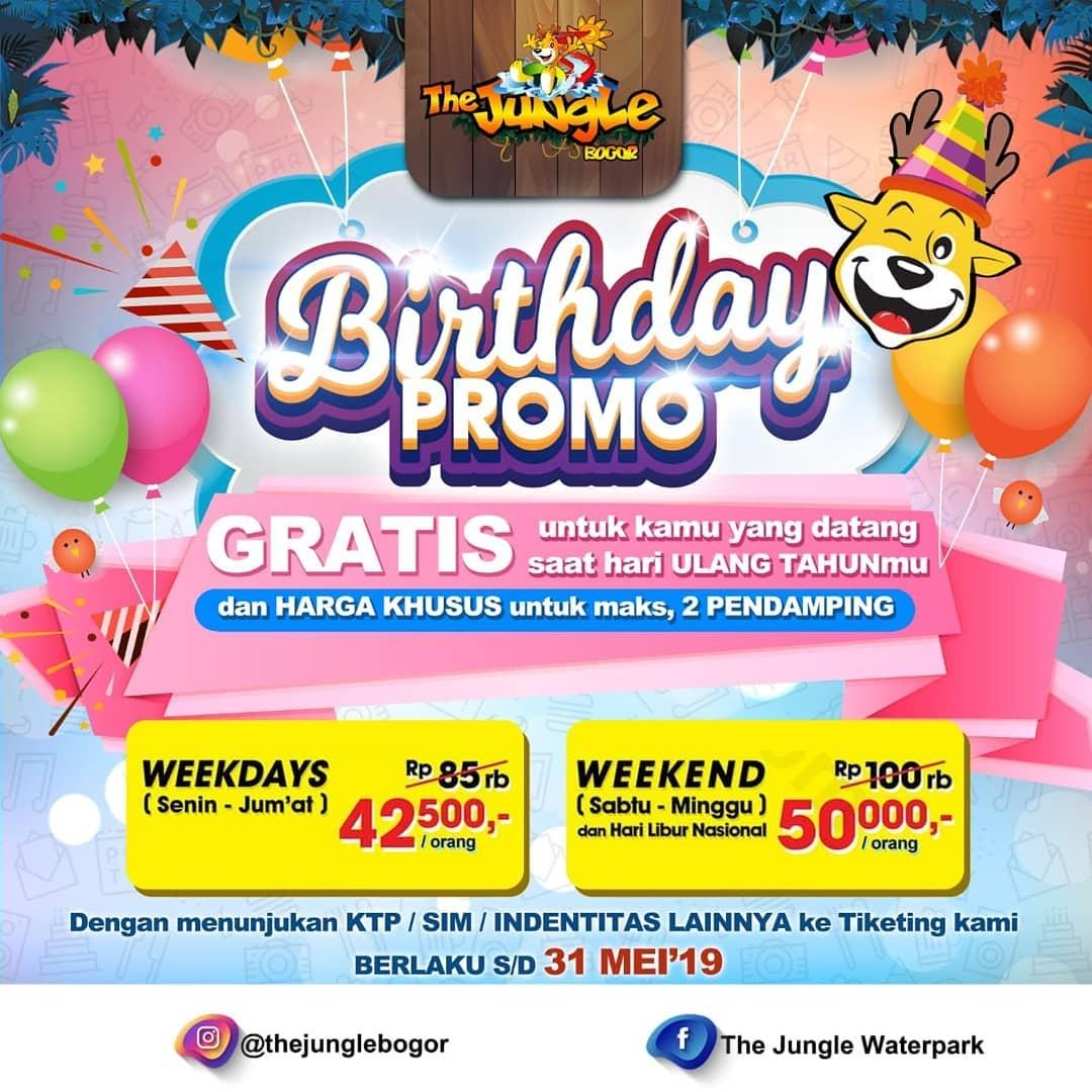The Jungle Bogor Promo Spesial Ulang Tahun! Berenang Gratis Sepuasnya