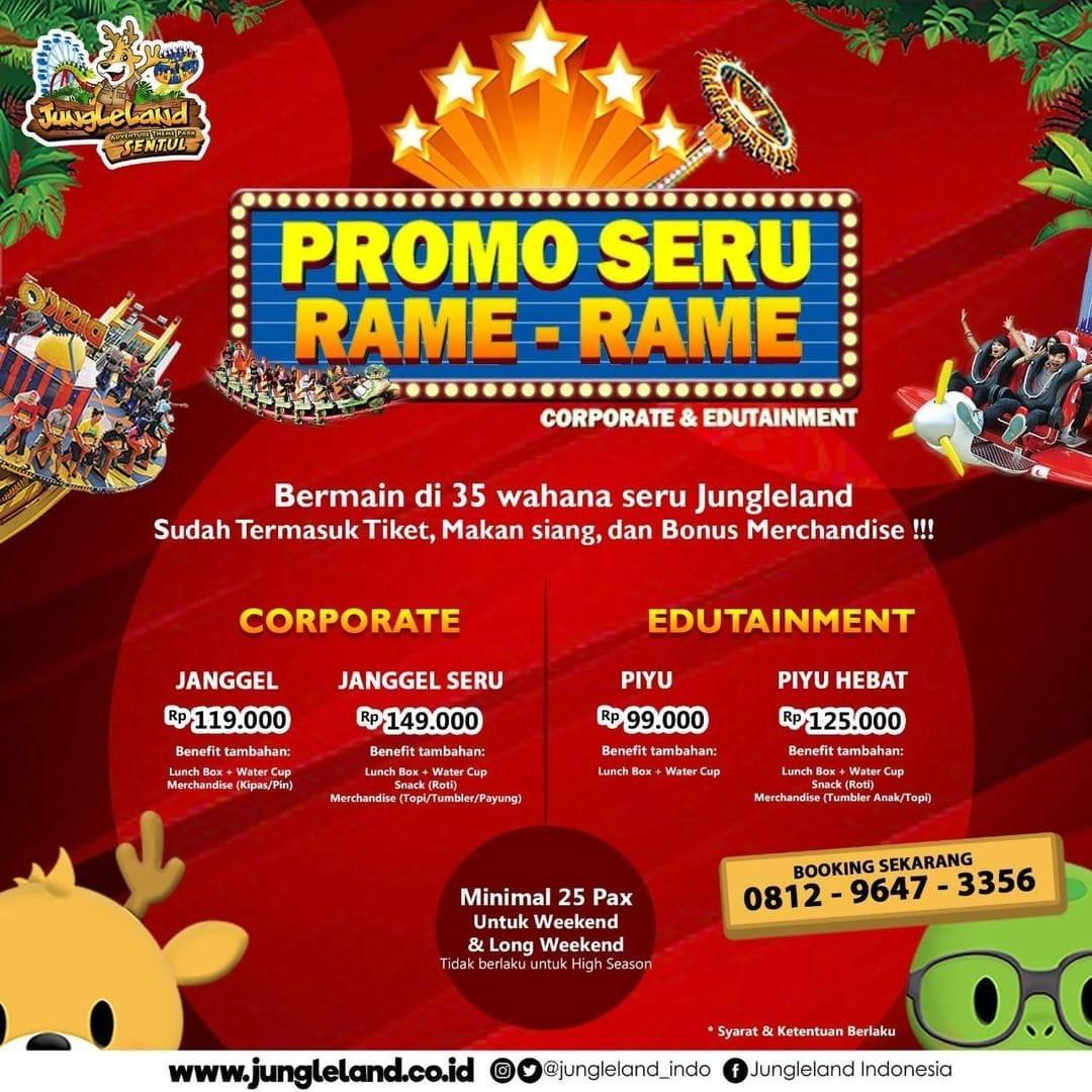 Jungleland Promo Seru Rame-Rame, HTM Mulai Rp. 99.000!