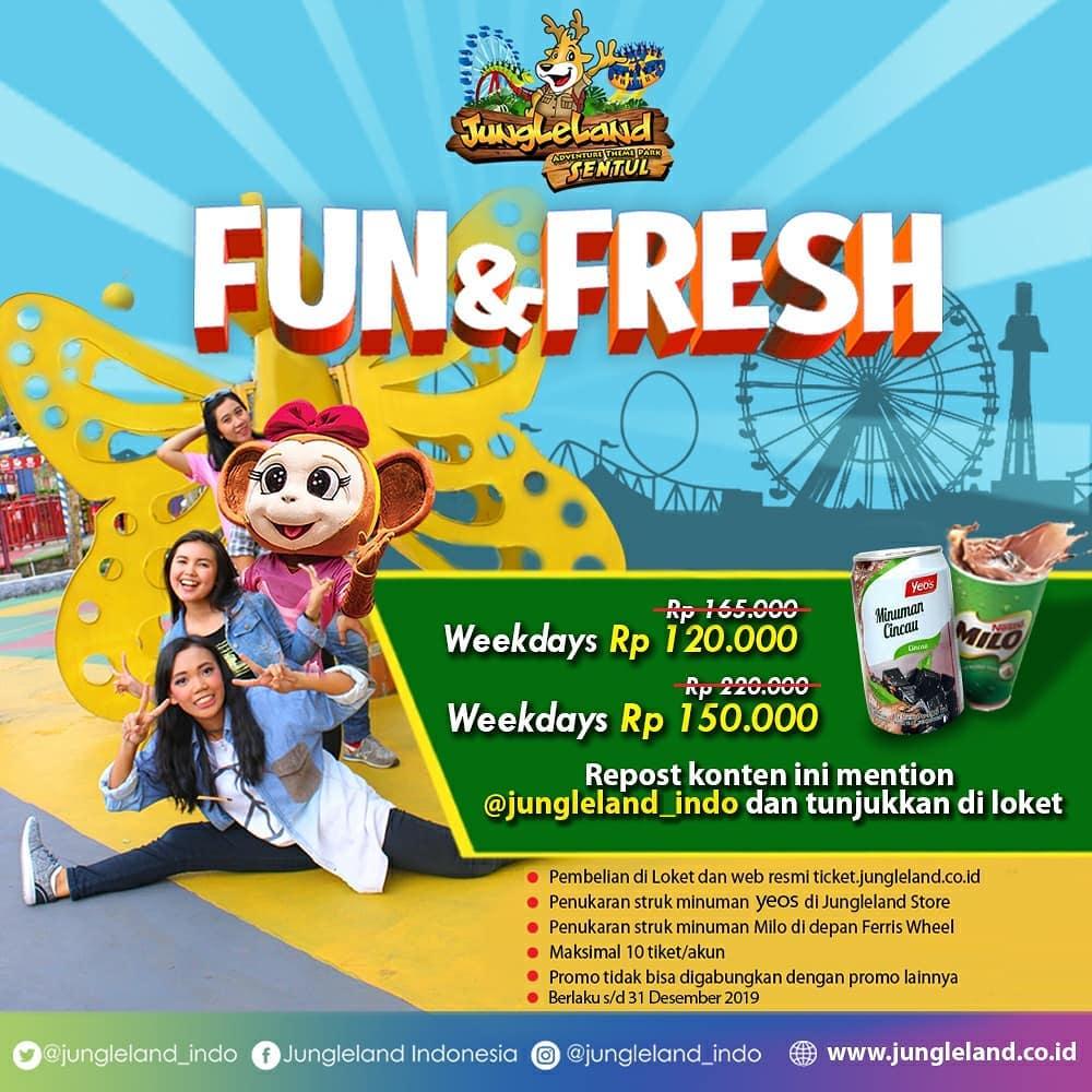 Jungleland Promo Fun & Fresh, Main Sepuasnya Dan Dapat Minuman Mulai Rp. 120 Ribuan
