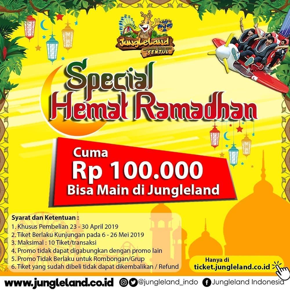 Jungleland Promo Spesial Ramadhan, HTM Cuma Rp. 100.000 All Day