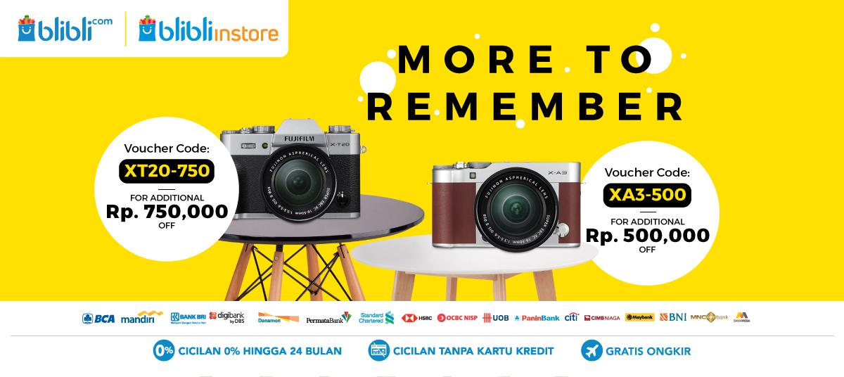 Blibli Promo Kamera Fujifilm Fair, Diskon Hingga Rp 750 Ribu