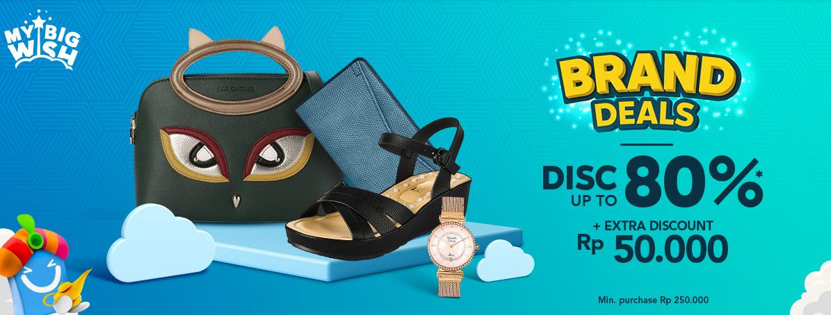 Blibli Brand Deals Maret, DISKON Hingga 80% + Extra Diskon Rp. 50.000