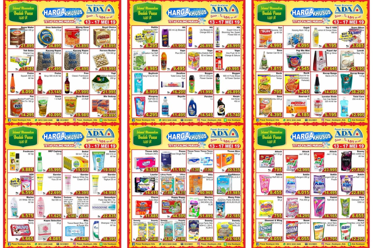 Katalog Promo Hemat Ramadan Ada Pasar Swalayan Periode 13-17 Mei 2019