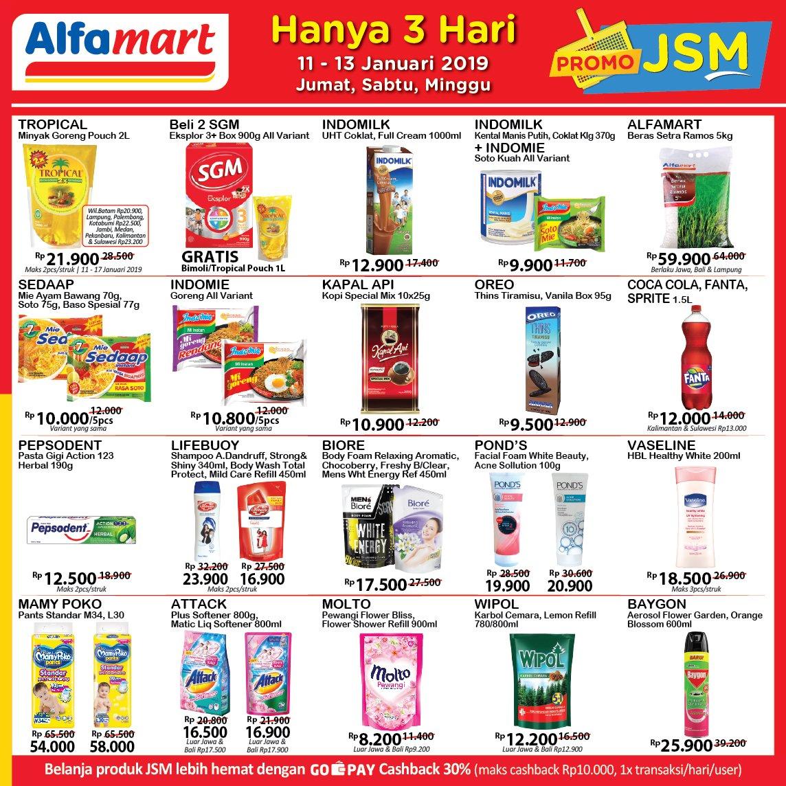 Katalog Promo JSM Alfamart 11-13 Januari 2019