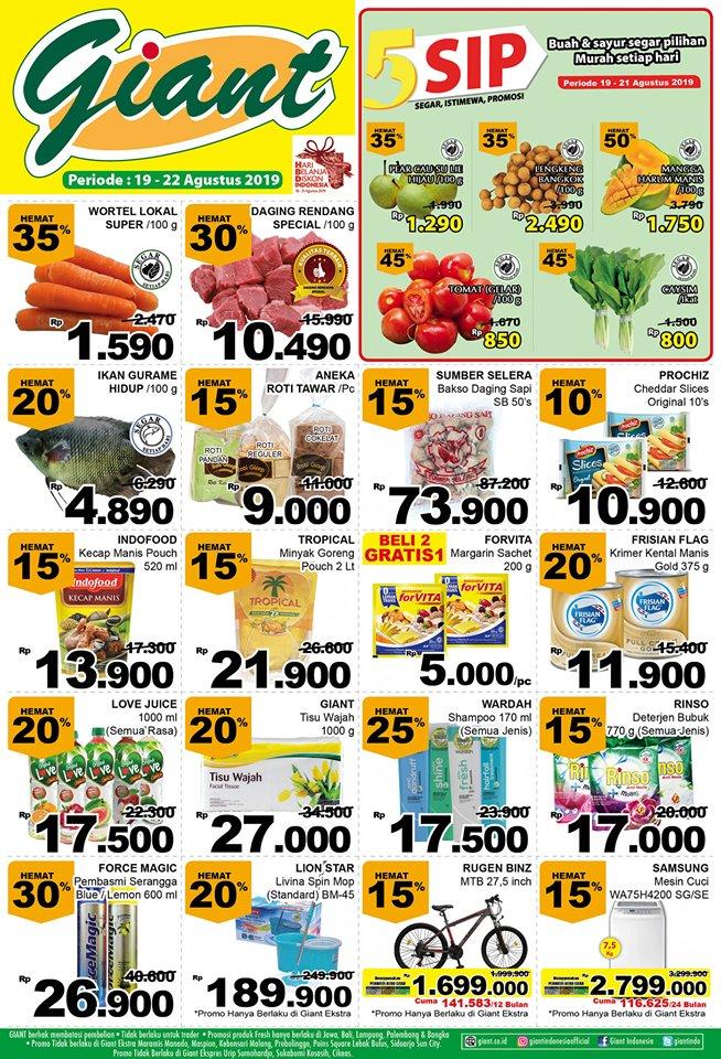 Katalog Promo Belanja Hemat Giant Supermarket Periode 19-22 Agustus 2019