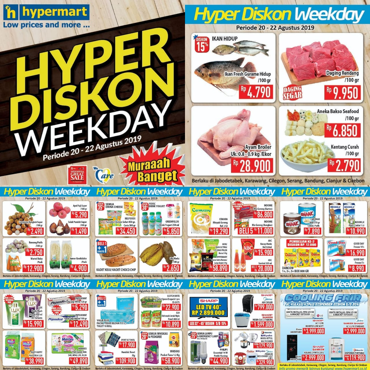 Katalog Promo JSM Hypermart Periode 20-22 Agustus 2019!