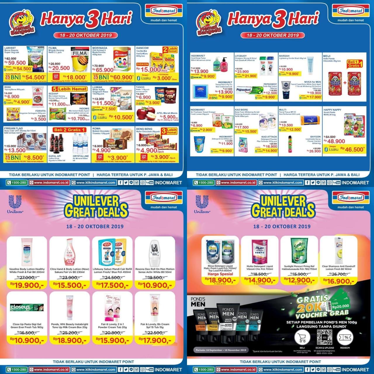 Katalog Promo JSM Indomaret Periode 18-20 Oktober 2019