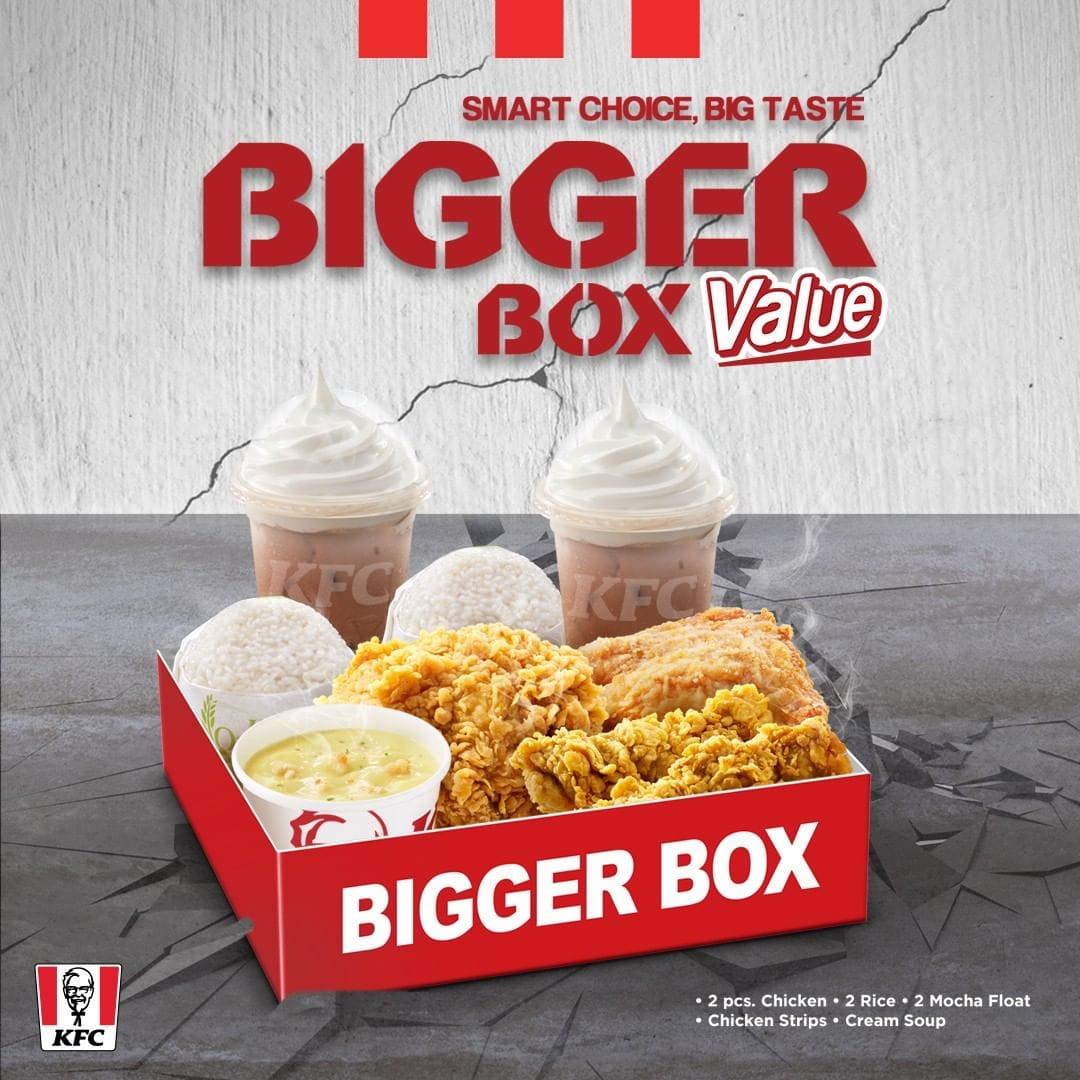 KFC Promo Paket Menu Baru Bigger Box Value, Harga Mulai Rp ...