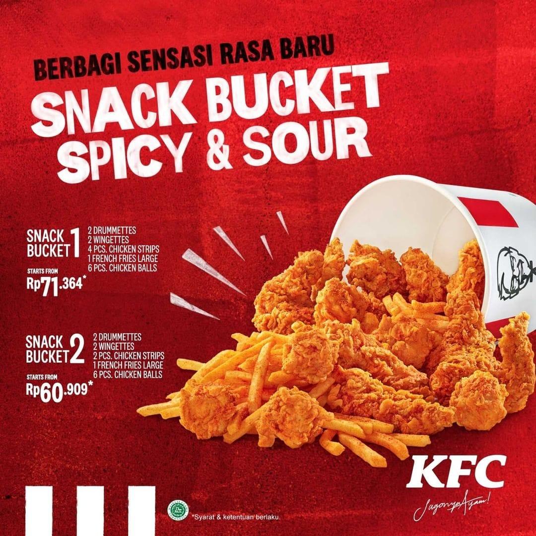 KFC Promo Snack Bucket Terbaru, Harga Mulai Rp. 60.909!
