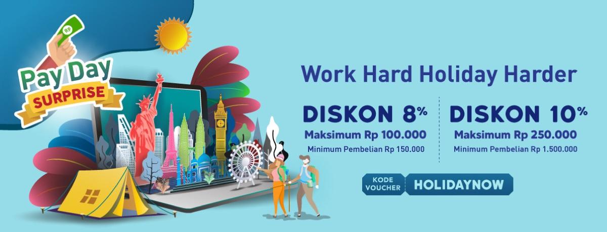 Blibli Promo Gajian, Tour & Travel Diskon Hingga Rp 250.000