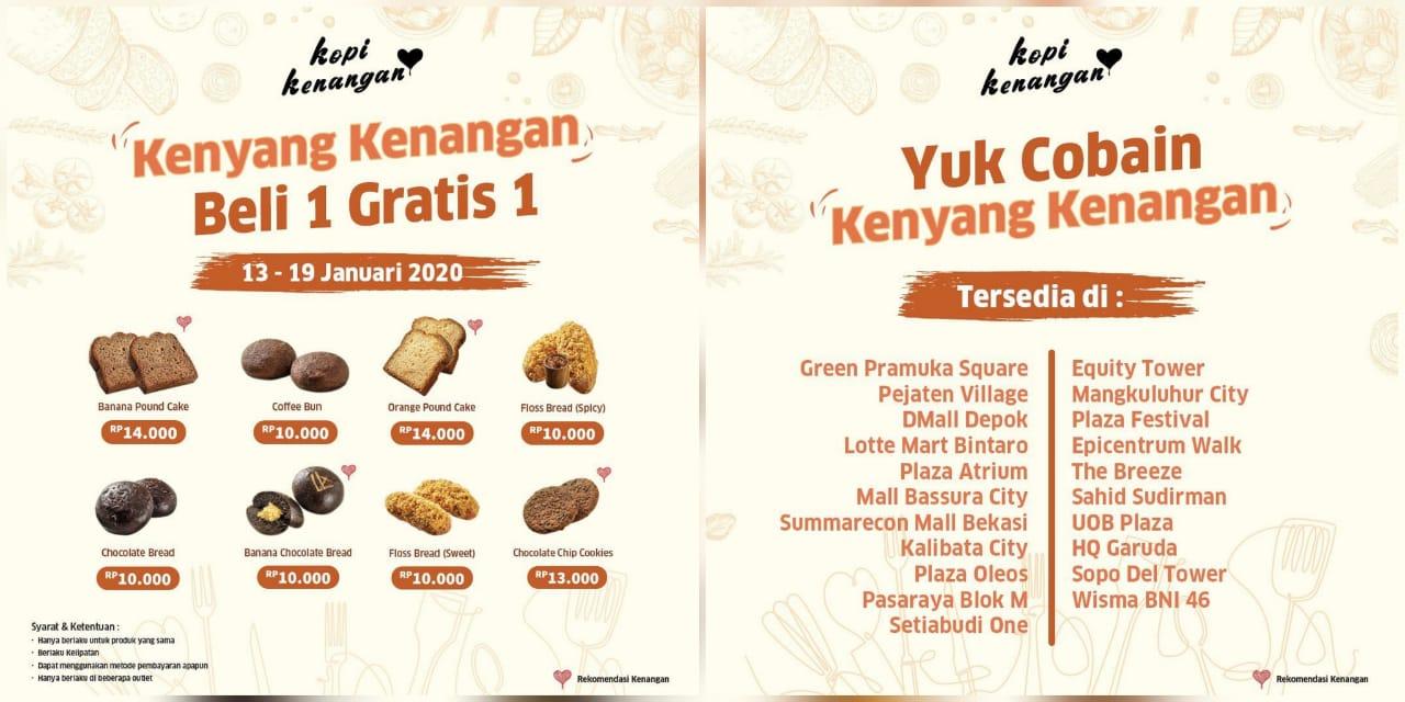 Kopi Kenangan Promo Snack Time, Buy 1 Get 1 Free!