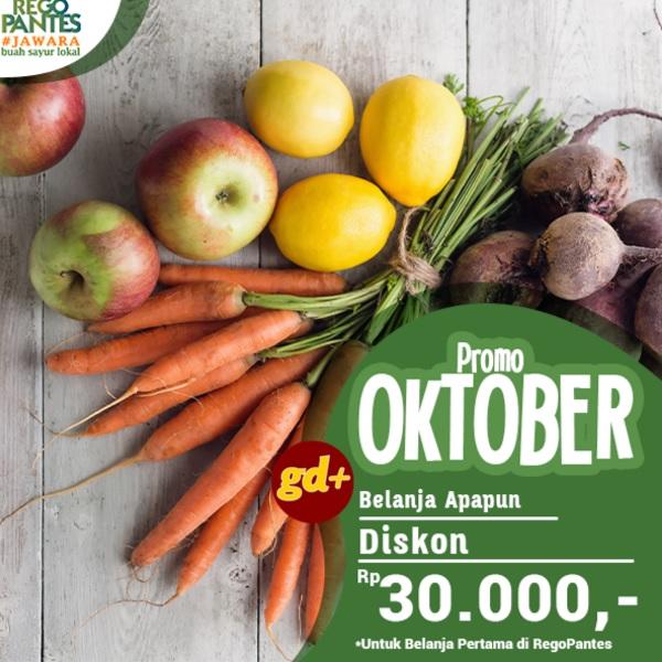 Promo Sayur dan Buah Segar di RegoPantes Untuk Pengguna Baru, Spesial Diskon Rp 30.000 Khusus Member GD+