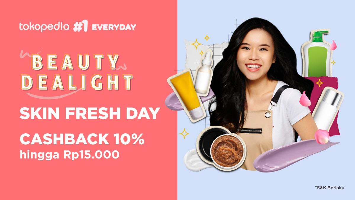 Tokopedia Promo Cashback 10% untuk Produk Kecantikan Asal Korea Favoritmu