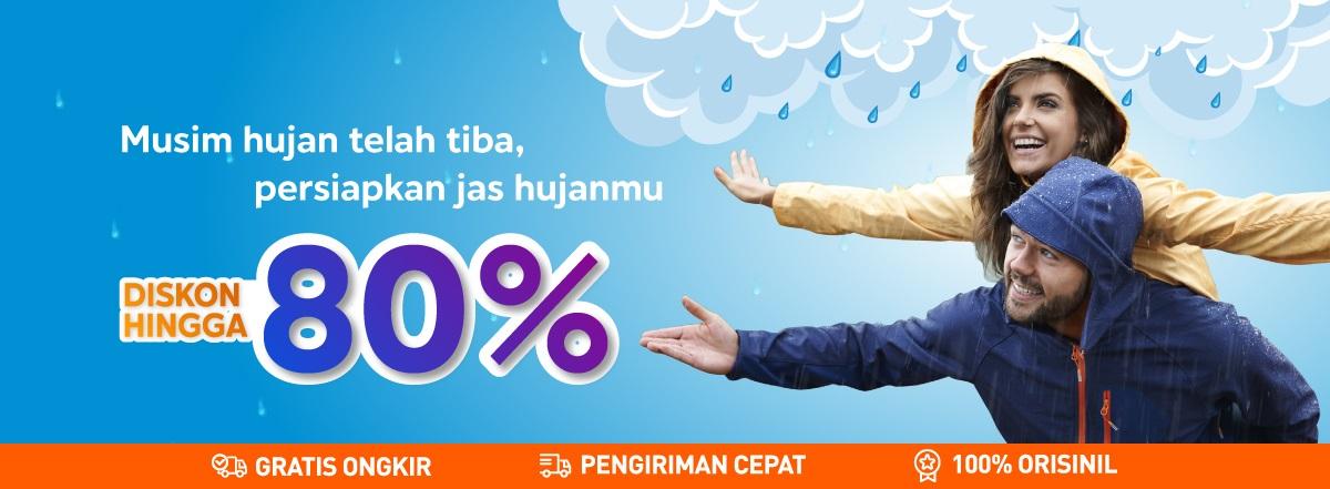 Blibli Promo Jas Hujan Terbaik, Diskon Hingga 80%