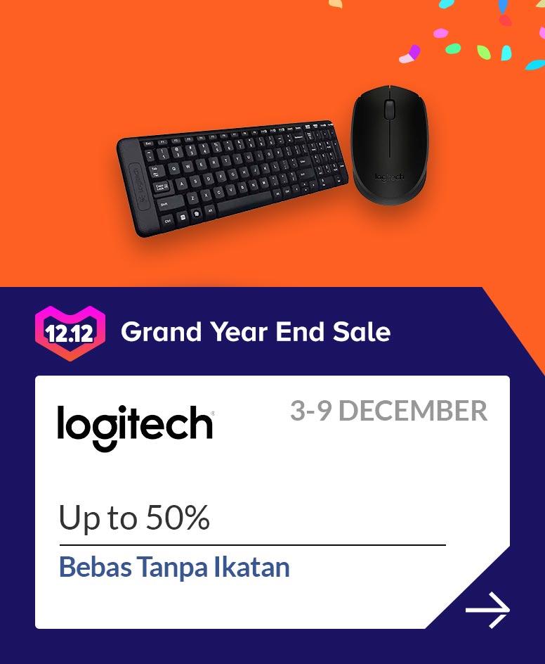 Lazada Promo Logitech Official Store, Diskon Spesial Hingga 50%