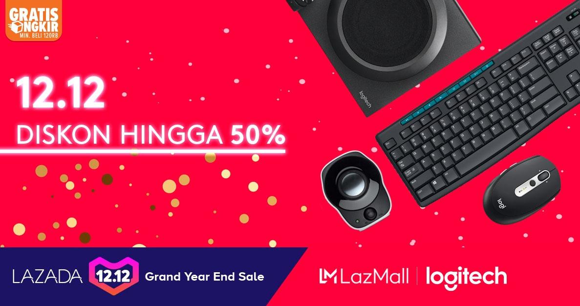 Lazada Promo 12.12 Logitech Official Store , Diskon Spesial Hingga 50%