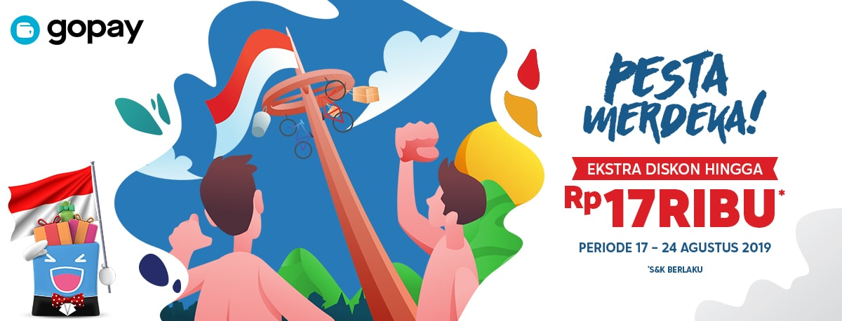 Blibli Promo GOPAY Kemerdekaan, Ekstra Diskon Hingga Rp 17.000