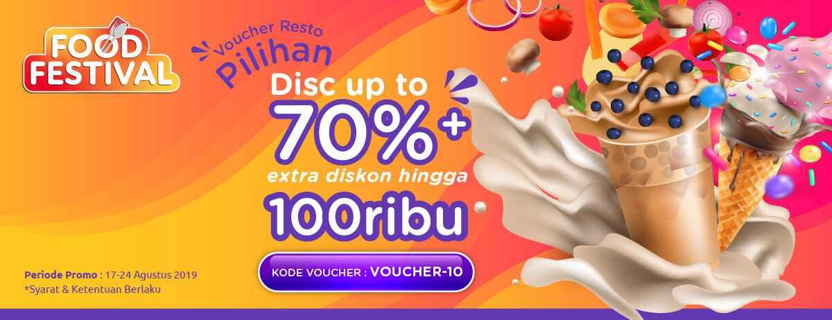 Blibli Promo Food Festival, Diskon Hingga 70% + Ekstra Diskon Hingga Rp 100.000