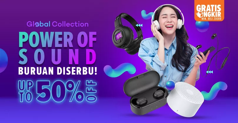 Lazada Promo Power Of Sound, Diskon Hingga 50%