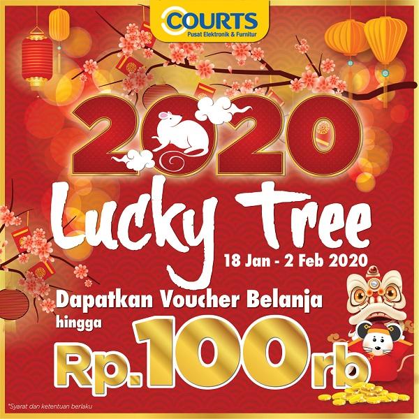 COURTS Lucky Tree : Angpao voucher belanja s.d Rp.100RIBU!